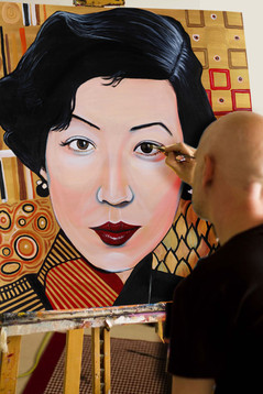 Colour portrait    100cm x 100cm