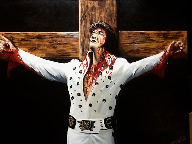 Elvis Died For You Original Portrait