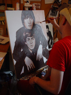 Painting Lennon and McCartney