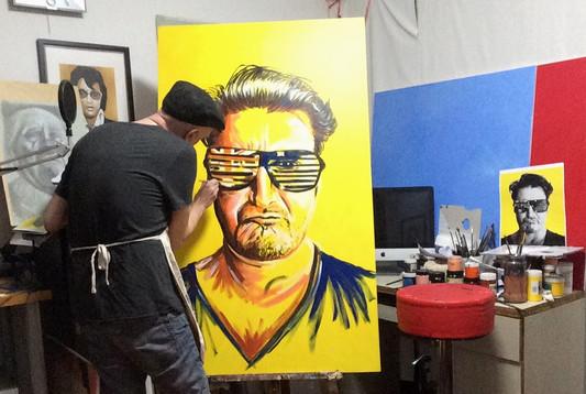 Colour portrait 150cm x 90cm