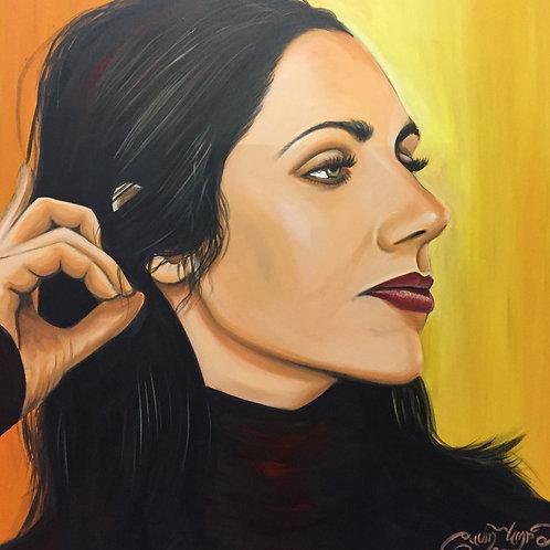 Polly Harvey portrait (100cm x 100cm)