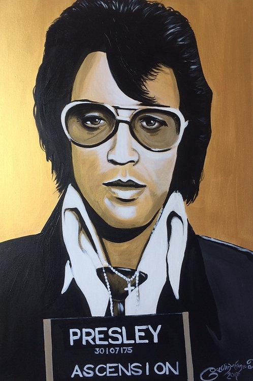 Elvis Mugshot portrait