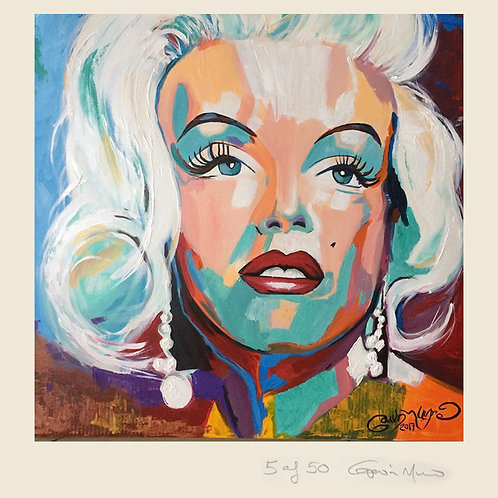 Marilyn Monroe- Beautiful Mess- limited edition framed print