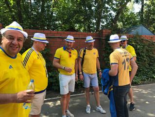 Классные шведские болельщики