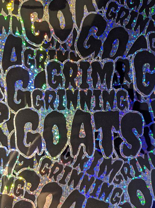 GLITTER Grim Grinning Goats Logo Sticker