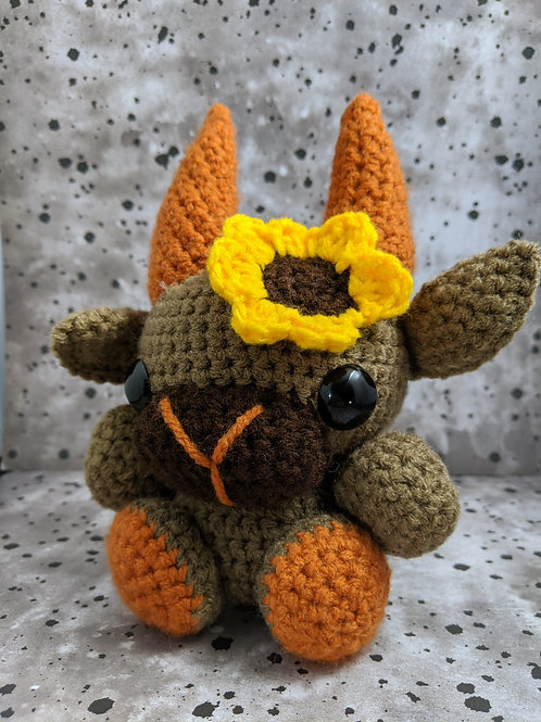 (M) Sunflower (Orange) Black Phillip
