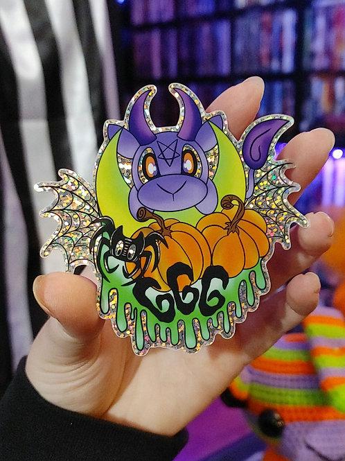 Pumpkin Glitter Sticker