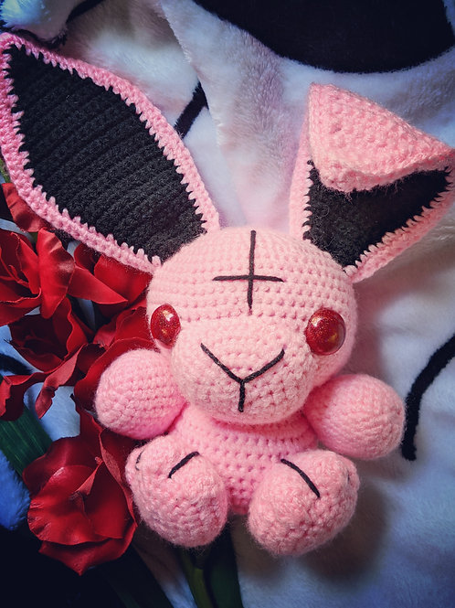 (L) Pink Dust Bunny