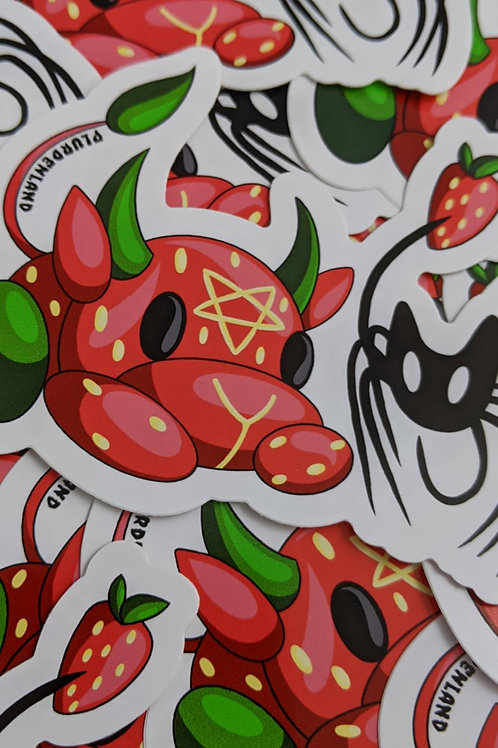 Strawberry Spider Sticker