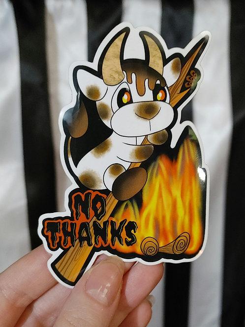 No Thanks S'mores Sticker