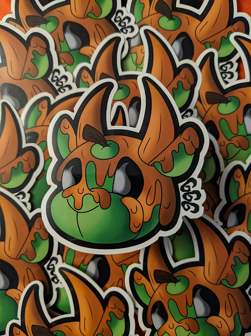 Green Caramel Apple Sticker