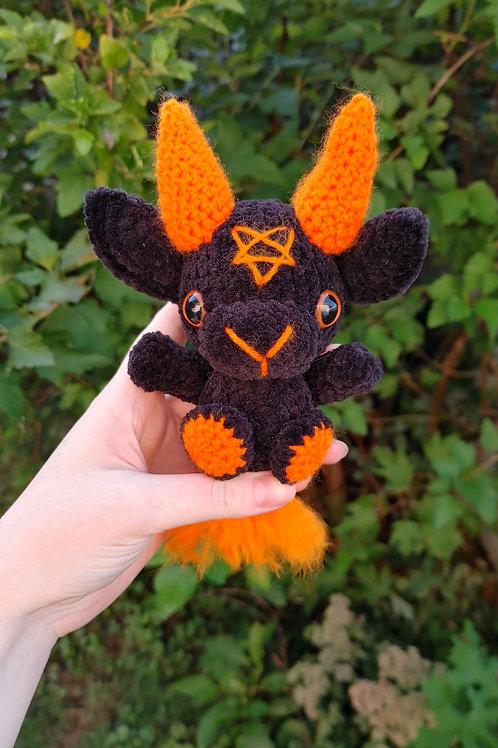 Velvet (Orange) Black Phillip Doll