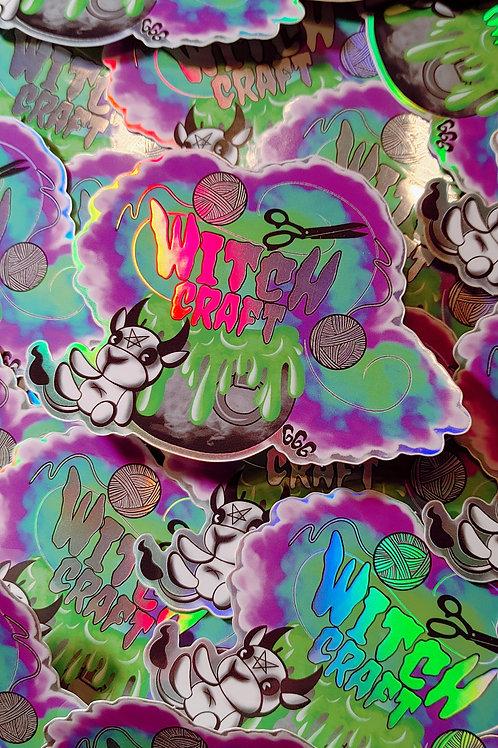 Holographic Witch Craft Sticker