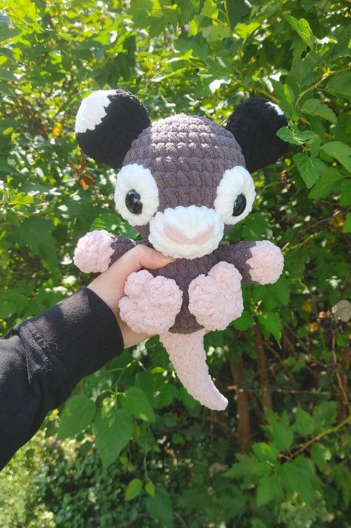 Opossum Doll - dark grey (large plush)