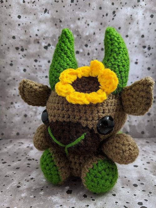 (M) Sunflower (Green) Black Phillip