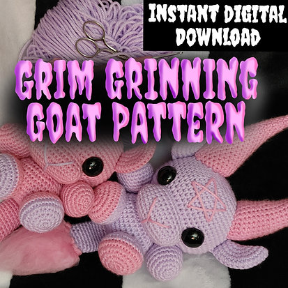 Grim Grinning Goat Pattern  (Digital Item/Instant Download)