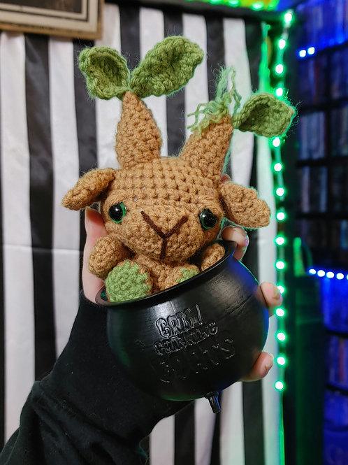 Mandrake Black Phillip (Small Doll) + Cauldron PRE-ORDER
