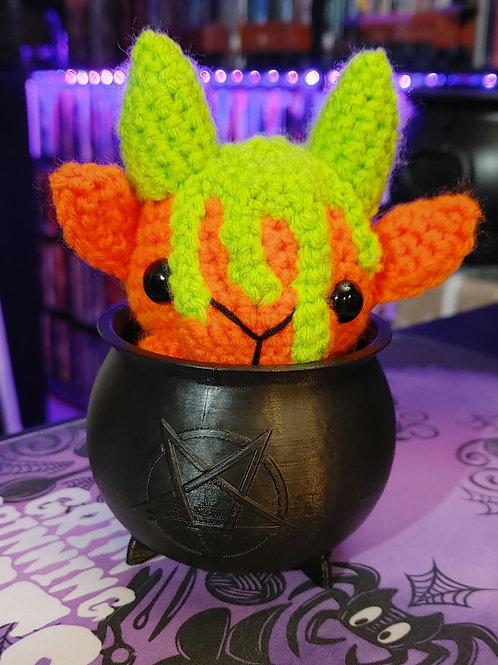 Slime Black Phillip (Small Doll) + Cauldron (Choose your color)