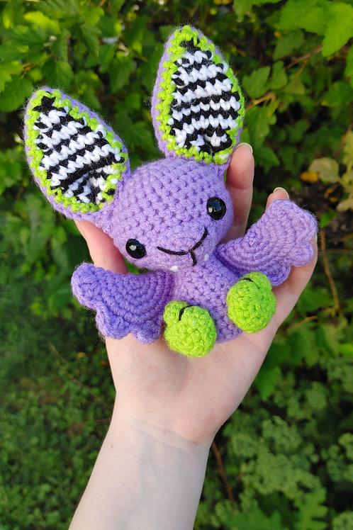 Purple Beetlejuice Bat Doll