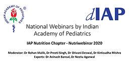 IAP Nutrition Chapter - Nutriwebinar 2020