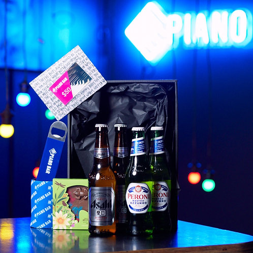 Piano Bar Gift Pack (Asahi and Peroni Pack)