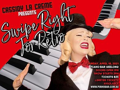 Swipe Right For Retro - Piano Bar Websit