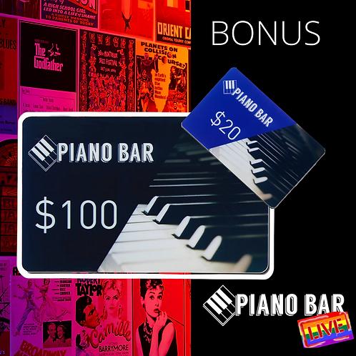 $100 Gift Card  +$20 Bonus!