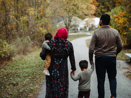 Centennial Park Family Portraits / Maryland Portrait Photographer / The Ansari Family