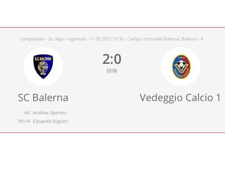 SC Balerna - Vedeggio Calcio 2:0