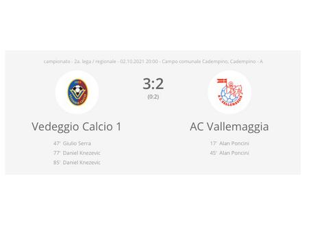 Vedeggio Calcio - AC Vallemaggia