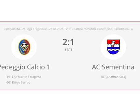 Vedeggio Calcio - AC Sementina 2:1