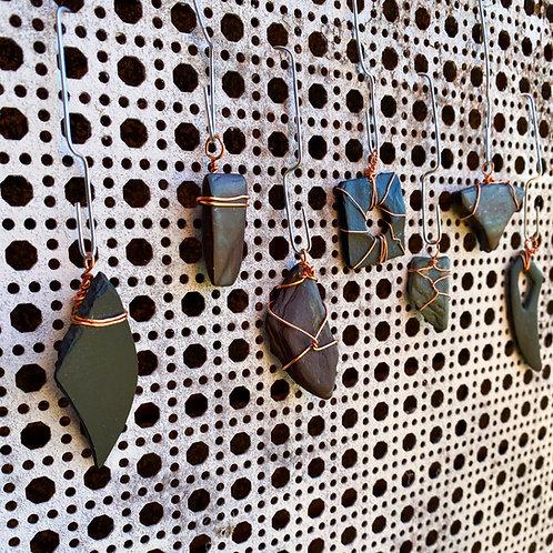 Handmade Slate Pendant Necklace