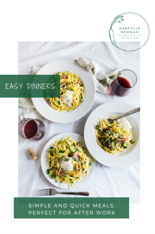 Easy Dinners Front Cover