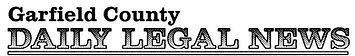 Garfield County Daily Legal News logo