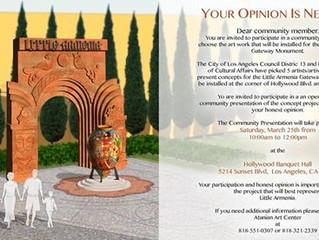GET INVOLVED: Darpas & Karas Little Armenia Gateway Monument Proposal Presentation http://la.cur