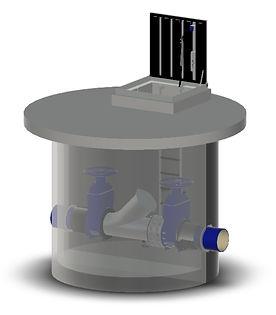 VARIO-FIX-BOX Molch-Spül- und Kamera-Sta