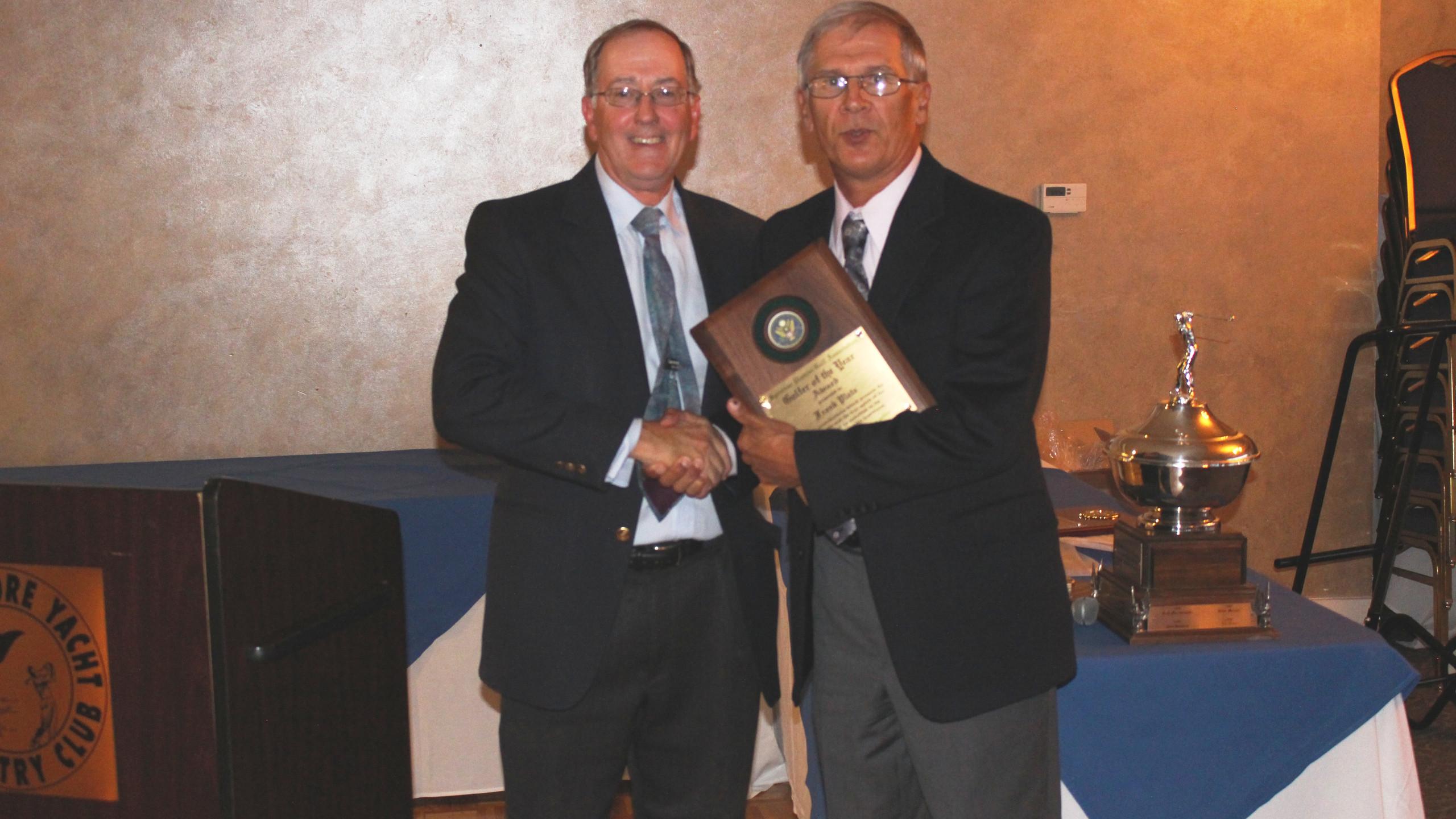 Golfer of the Year, Frank Plata with SDGA President Stew McGough