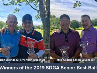 Lavalle, George & Noun, Lalonde Win SDGA Sr Best-Ball Titles