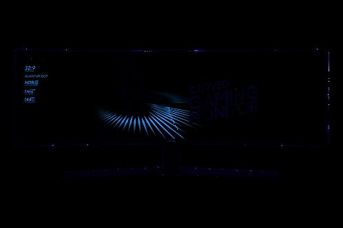 "SAMSUNG LC49HG90DMU 49"" 3840 X 1080 FULL HD QLED CURVED BLACK COMPUTER MONITOR"
