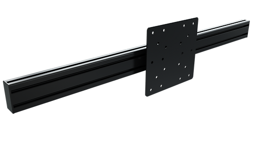 1200mm Long Anodized Black 80mm x 40mm Extruded Aluminium with VESA Mount