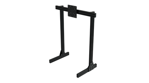 TR8020 Black Aluminium Floor Single Monitor Stand with VESA Mount