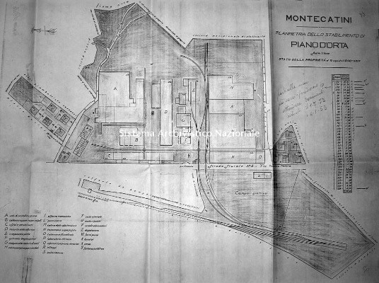 Planimetria Montecatini factories, 1940