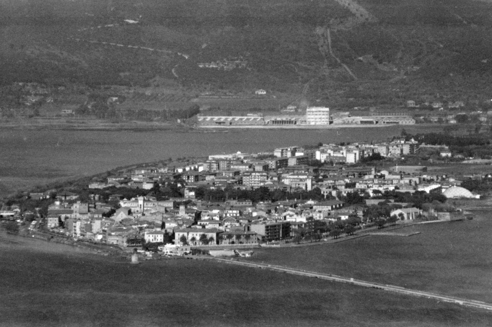 Orbetello's view from Monte Argentario, 1989