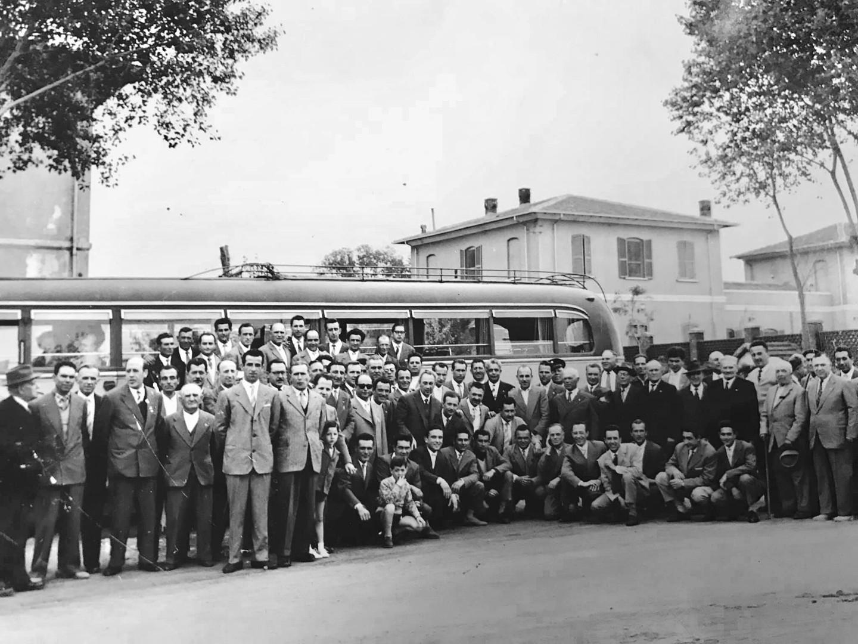 Montecatini's employees, 1958