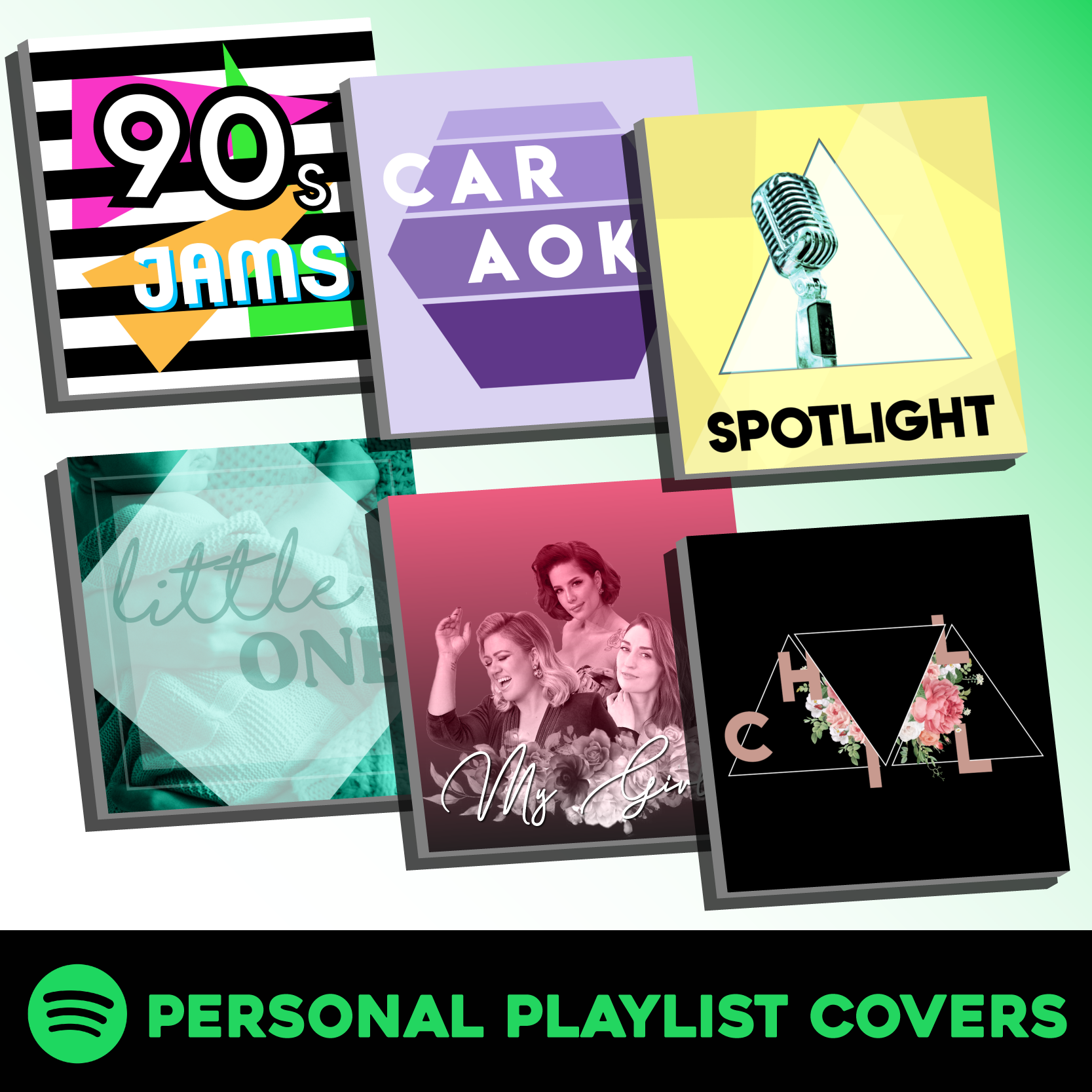 Personal Spotify Playlist Covers