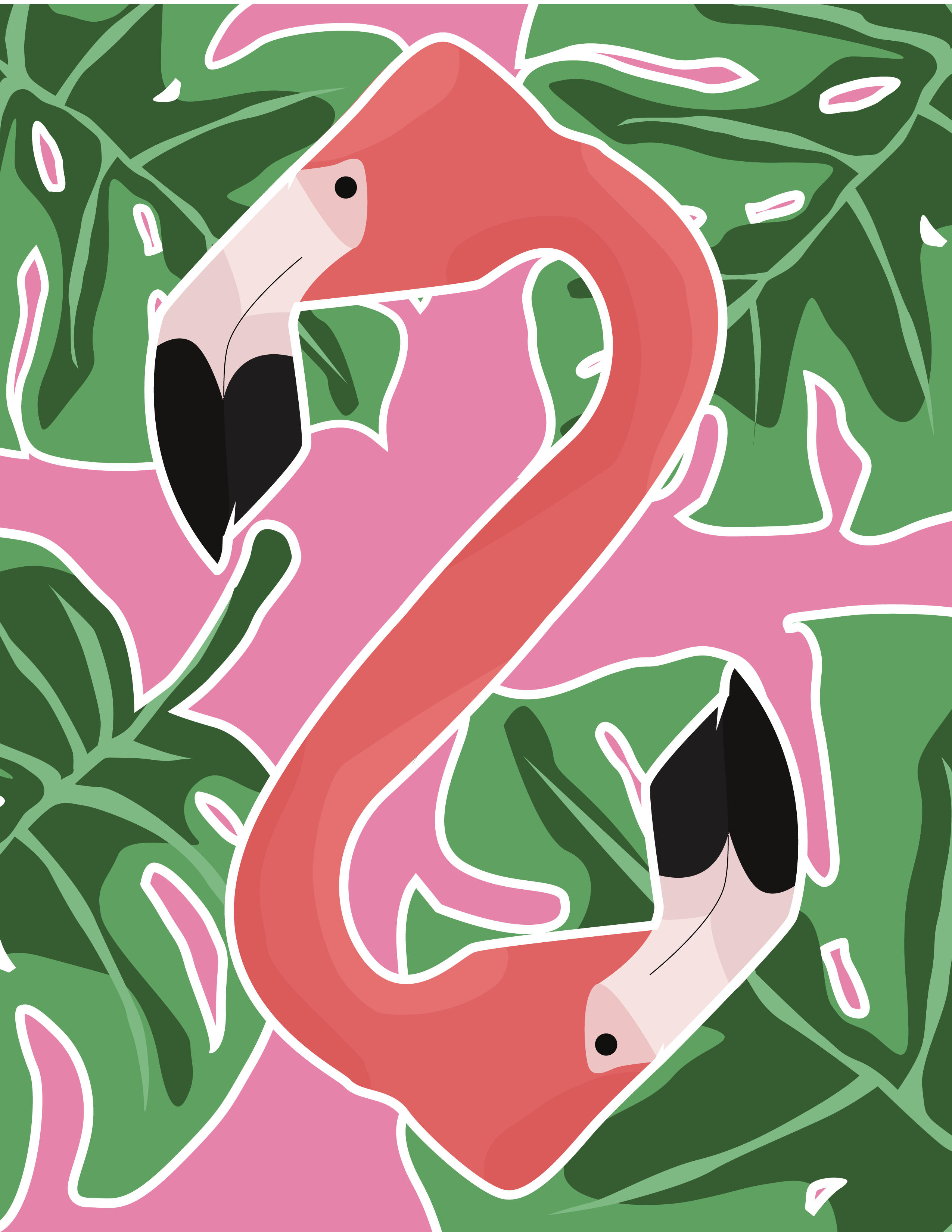 Flamingo Duo