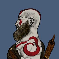 Kratos Profile Commission Piece