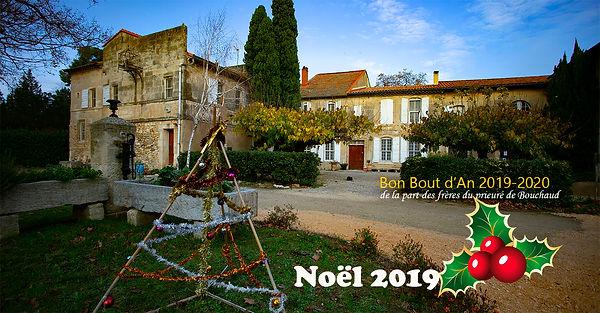 les frères du prieuré Notre-Dame des champs en Arl noel 2019 s vous accueillent pour célèbrer la Noël 2019 au Mas de Bouchaud -photo Michel HUGUES