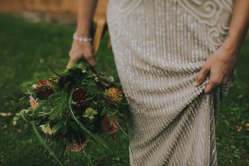 Bridal detail in Stevens Point, WI industrial wedding