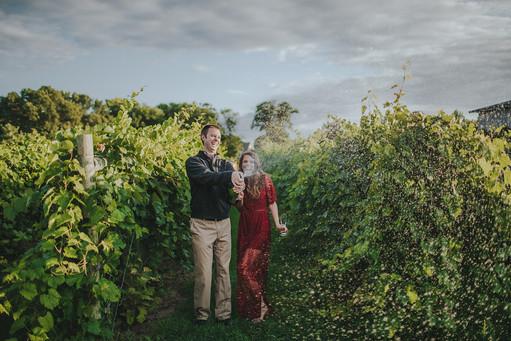 Couple celebrates anniversary at Villa Bellezza vineyard